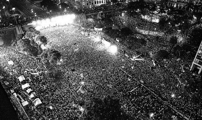 © Foto de J.C. Brasil/CPDoc JB. São Paulo. Brasil, 1984.